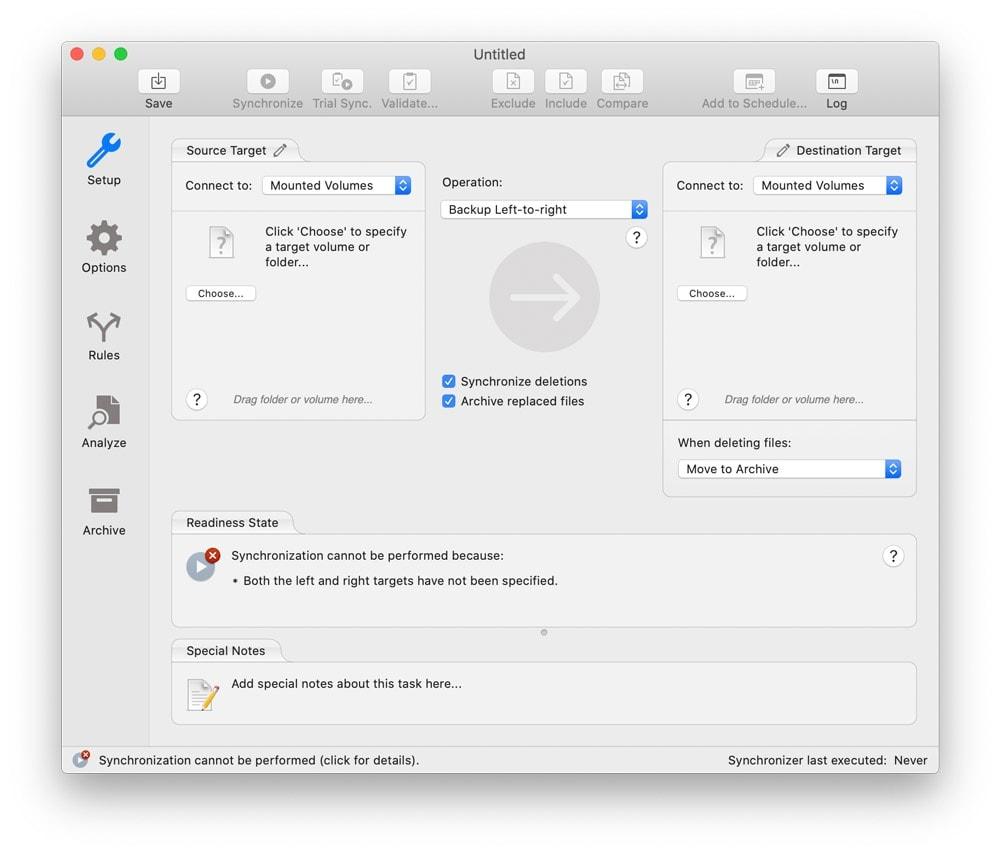 How to copy files safely using Chronosync 1