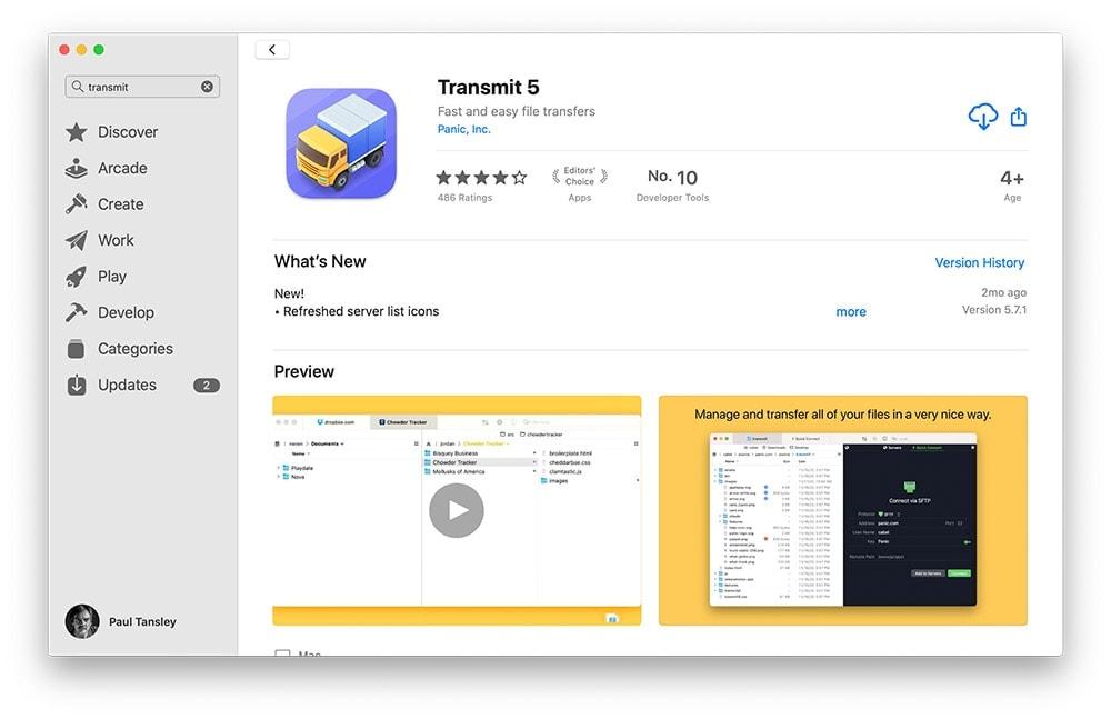 Transmit 5 FTP Software